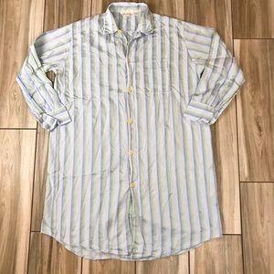 Vintage Derek Rose XL Cotton Night Shirt pajamas